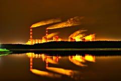 Centrale elettrica di Belchatow, Polonia Fotografia Stock Libera da Diritti