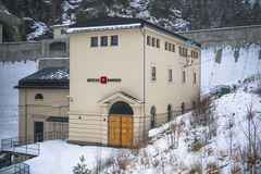 Centrale elettrica di Brekke Fotografia Stock