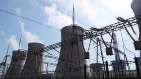 Centrale elettrica di calore Immagini Stock Libere da Diritti