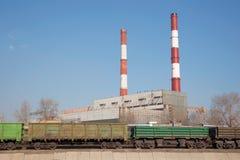 Centrale elettrica di calore Fotografie Stock