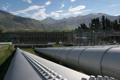 Centrale elettrica di Coleridge del lago Fotografie Stock
