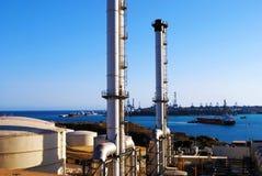 Centrale elettrica di Delimara, Marsaxlokk, Malta Fotografia Stock
