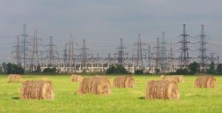 Centrale elettrica di elettricità. Immagine Stock