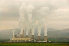 Centrale elettrica di elettricità Immagine Stock