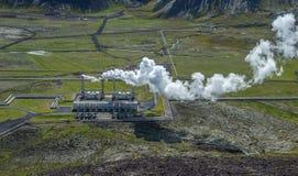 Centrale elettrica di energia geotermica di Nesjavellir, Islanda Fotografia Stock Libera da Diritti