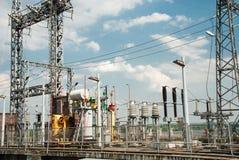 Centrale elettrica di energia idroelettrica imballata di Kanev dell'attrezzatura, Ucraina Fotografie Stock Libere da Diritti