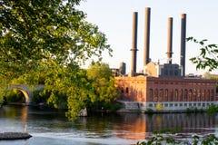 Centrale elettrica di energia idroelettrica, Minneapolis Minnesota Fotografia Stock
