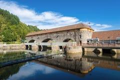 Centrale elettrica di energia idroelettrica Rudolf-Fettweis al fiume Murg Fotografia Stock Libera da Diritti