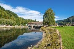 Centrale elettrica di energia idroelettrica Rudolf-Fettweis al fiume Murg Immagini Stock