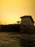 Centrale elettrica di energia idroelettrica in Tailandia fotografia stock libera da diritti