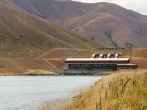 Centrale elettrica di idro elettricità della centrale elettrica Immagine Stock
