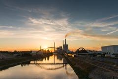 Centrale elettrica di Mannheim Fotografie Stock Libere da Diritti