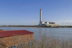 Centrale elettrica di potere calorifico Pila Fotografia Stock