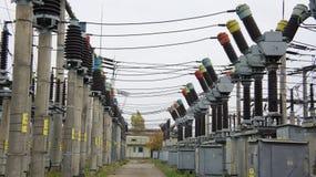 Centrale elettrica e di energia Fotografia Stock Libera da Diritti