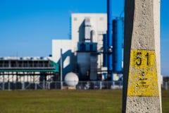 Centrale elettrica e natura Fotografie Stock