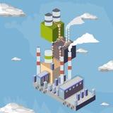 centrale elettrica elettrica del vapore Fotografia Stock