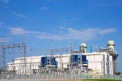 Centrale elettrica elettrica della turbina a gas immagine stock libera da diritti