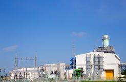 Centrale elettrica elettrica della turbina a gas fotografia stock