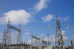 Centrale elettrica elettrica della turbina a gas immagini stock