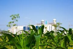 Centrale elettrica elettrica della turbina a gas fotografia stock libera da diritti