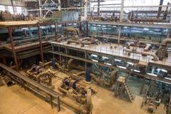 Centrale elettrica elettrica, dentro Fotografia Stock
