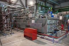 Centrale elettrica elettrica, dentro Immagine Stock