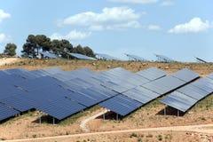 Centrale elettrica fotovoltaica Fotografie Stock