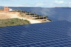 Centrale elettrica fotovoltaica Fotografia Stock Libera da Diritti