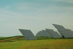 Centrale elettrica fotovoltaica Immagine Stock Libera da Diritti