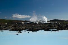 Centrale elettrica geotermica Immagini Stock