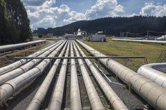 Centrale elettrica geotermica Immagini Stock Libere da Diritti