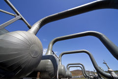 Centrale elettrica geotermica in Islanda Immagini Stock Libere da Diritti