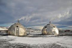 Centrale elettrica geotermica, Islanda Immagini Stock