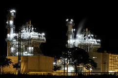 Centrale elettrica industriale Fotografie Stock