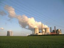 Centrale elettrica infornata della lignite Immagine Stock