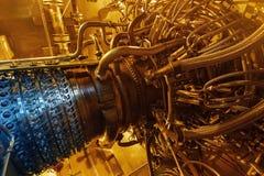 Centrale elettrica, l'area della centrale elettrica Alba di tramonto di luce solare fotografia stock libera da diritti