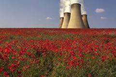 Centrale elettrica - Lincolnshire - Inghilterra Fotografie Stock Libere da Diritti