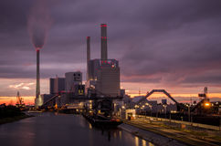 Centrale elettrica a Mannheim Fotografia Stock