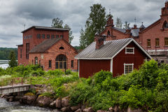 Centrale elettrica Museo di Werla (Verla) finland Fotografia Stock Libera da Diritti