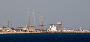 Centrale elettrica nel Cipro Fotografie Stock Libere da Diritti