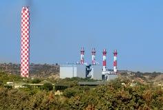 Centrale elettrica nel Cipro Immagini Stock Libere da Diritti
