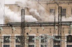 Centrale elettrica nel lavoro Immagini Stock Libere da Diritti