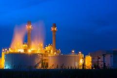 Centrale elettrica nel petrochimico Fotografia Stock Libera da Diritti