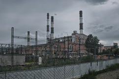 Centrale elettrica orribile Immagini Stock Libere da Diritti