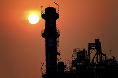 Centrale elettrica profilata Fotografie Stock Libere da Diritti
