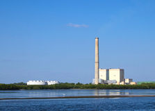 Centrale elettrica pulita sicura di HDR in Florida Fotografie Stock