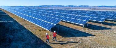 Centrale elettrica solare fotografia stock