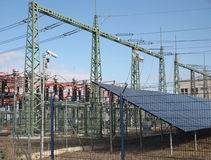 Centrale elettrica solare Fotografie Stock Libere da Diritti