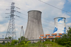 centrale elettrica Termale-elettrica fotografie stock