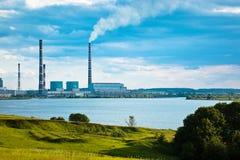 Centrale elettrica termica Immagini Stock